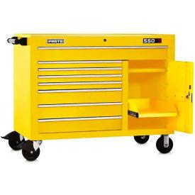 """Proto J555041-8YL-1S 550S Series 50""""W X 25""""D X 41""""H 8 Drawer & 1 Shelf Yellow Workstation"""