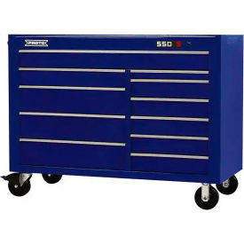 "Proto J455743-11BL 450HS 57"" Workstation - 11 Drawer, Blue, 57""L X 43""H X 25""D"
