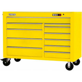 "Proto J555743-11YL 550S Series 57""W X 25""D X 43""H 11 Drawer Yellow Workstation"