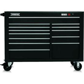 "Proto J555743-13BK 550S Series 57""W X 25""D X 43""H 11 Drawer Black Workstation"