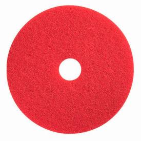 "Boss Cleaning Equipment 16"" Red-Spray Buff Pad - Pkg Qty 5"