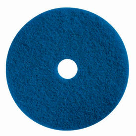 "Boss Cleaning Equipment 16"" Blue Pad - Pkg Qty 5"
