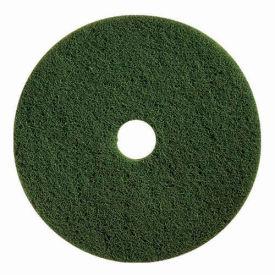 """Boss Cleaning Equipment 19"""" Green-Scrub Pad - Pkg Qty 5"""