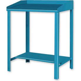 """36""""W x 30""""D Open Steel Shop Desk - Blue"""