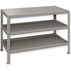 """Heavy Duty Machine Table w/ 3 Shelves - 30""""W x 18""""D Gray"""