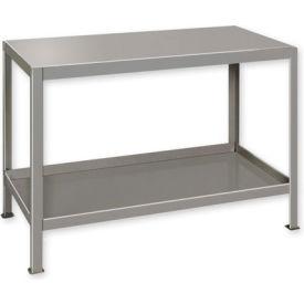"""Heavy Duty Machine Table w/ 2 Shelves - 36""""W x 18""""D Gray"""