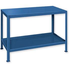 "Heavy Duty Machine w/ 2 Shelves - 60""W x 18""D Blue"