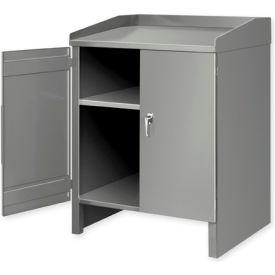 2 Shelf Cabinet Shop Desk Gray