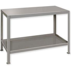 """Heavy Duty Machine Table w/ 2 Shelves - 30""""W x 24""""D Gray"""