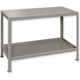 "Heavy Duty Machine Table w/ 2 Shelves - 36""W x 24""D Gray"