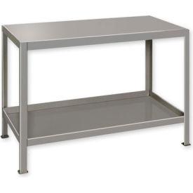"""Heavy Duty Machine Table w/ 2 Shelves - 48""""W x 24""""D Gray"""