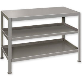 "Heavy Duty Machine Table w/ 3 Shelves - 48""W x 24""D Gray"