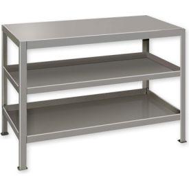"""Heavy Duty Machine Table w/ 3 Shelves - 48""""W x 24""""D Putty"""