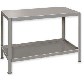 """Heavy Duty Machine Table w/ 2 Shelves - 60""""W x 24""""D Gray"""