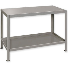 """Heavy Duty Machine Table w/ 2 Shelves - 60""""W x 24""""D Putty"""