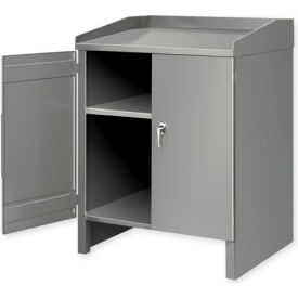 3 Shelf Cabinet Shop Desk Gray