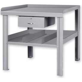 Arc Welding Bench w/ Center Drawer Gray