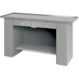 "Liquid Assembly Repair Bench w/ 2 Drawers - 60""W x 22""D x 32""H Gray"