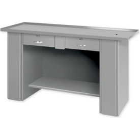 "Liquid Assembly Repair Bench w/ 2 Drawers - 60""W x 22""D x 32""H Blue"