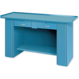 Drop Front Top Bench - 2 Drawers Blue