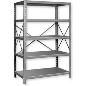 "Pucel™ Shelving Unit, 42""W x 72""H x 18""D, 5 Levels, 14 GA Shelves, 10 GA Posts, Putty"