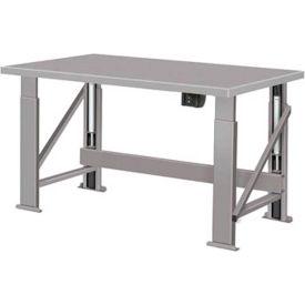 "Electric Hydraulic Bench w/ Steel Top - 96""W x 28""D Gray"