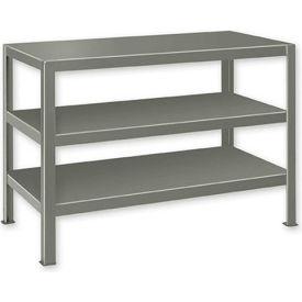 "Extra Heavy Duty Work Table w/ 3 Shelves - 48""W x 28""D Gray"