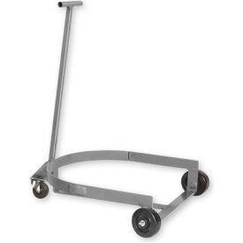 Pucel™ LBR-909H Low Drum Dolly Truck with Hinged Handle - Gray