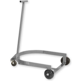 Pucel™ LBR-909H Low Drum Dolly Truck with Hinged Handle - Orange