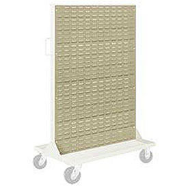 """Pucel Louvered Panel 36"""" x 61"""" for Portable Bin Cart Putty"""