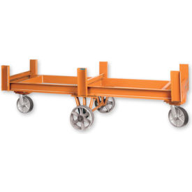"""Pucel™ OFB-84 Bar & Rod Truck with Rubber Casters - 84""""L Gray"""