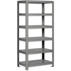 """Pucel - All Welded Steel Shelving - 30""""W x 18""""D Gray"""