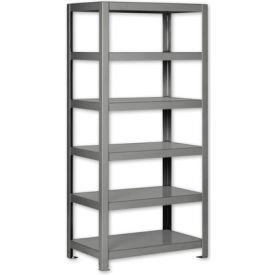 """Pucel - All Welded Steel Shelving - 36""""W x 18""""D Gray"""