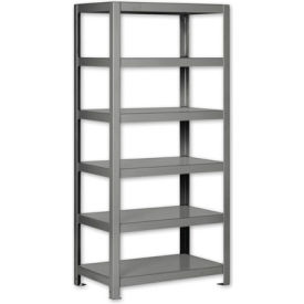 "Pucel - All Welded Steel Shelving - 48""W x 18""D Black"