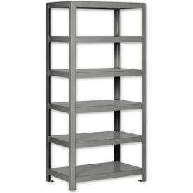 """Pucel - All Welded Steel Shelving - 48""""W x 18""""D Gray"""