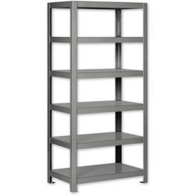 """Pucel - All Welded Steel Shelving - 30""""W x 24""""D Gray"""