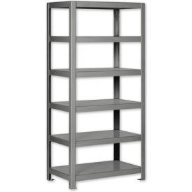 """Pucel - All Welded Steel Shelving - 48""""W x 24""""D Gray"""