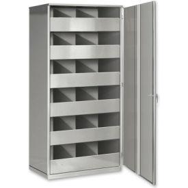 Steel Storage Bin Cabinet with Door - Black