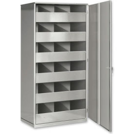 Steel Storage Bin Cabinet with Door - Blue