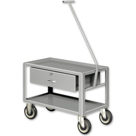 Pucel™ SER-101 Low Profile Pull Cart with Rubber Casters