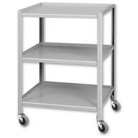 """Pucel™ TU-2028-3 Mobile Table 3 Shelves with 5"""" Casters 28 x 20"""