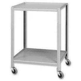 """Pucel™ TU-2324-2 Mobile Table 2 Shelves 5"""" Casters 24 x 23"""