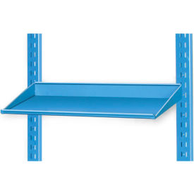 """Pucel 12"""" Sloped Shelf VSS-32-12 for Portable Bin Cart Gray"""