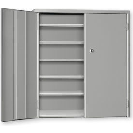 """Pucel Wall & Bench Cabinet WBC-2621 - 26-1/2""""W x 9""""D x  21""""H, Gray"""