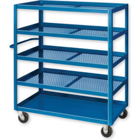 Pucel™ X-2448 Expanded Metal Stock Cart Steel Casters 2000 Lb. Cap.
