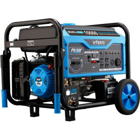 Pulsar PG10000B16, 10,000W, Portable Generator, Gasoline/LP, Electric/Recoil Start, 120/240V