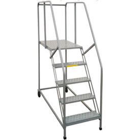 "P.W. Platforms 5 Step, 30""W x 28""D Steel Rolling Single Entry Platform - 5SWP3028R"