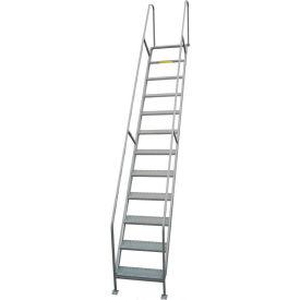 "P.W. Platforms 4 Step Steel Access Stairway, 24"" Step Width - PWSW4H24"