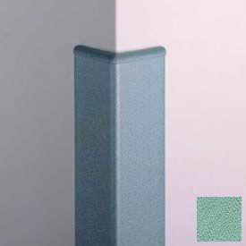 Surface Mounted Corner Guard 90°, 3'' Wings, 12'H W/Caps, Pale Jade
