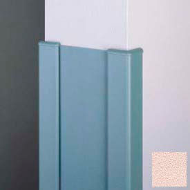 "Surface Mounted End Wall 90° Corners, 2'' Wings, 12'H W/Caps, 6""W, Ecru, Aluminum"